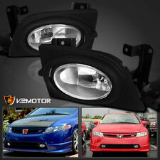 For 2006-2008 Honda Civic 4Dr Si Bumper Fog Lights+Switch Kit