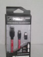 NHL DETROIT RED WINGS CHARGE & SYNC COMBO-LIGHTNING & MICRO USB CABLE