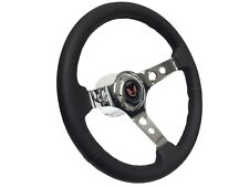 1969 - 1994 Pontiac Firebird 6 Bolt Steering Wheel Chrome Kit | Red Emblem