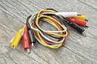 """4pc Test Lead 16-gauge Double Ended Insulated Alligator Jumper Wire 36"""" Electric"""