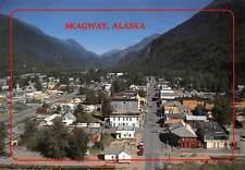 USA Skagway Alaska Aerial view Boardwalks General view Cars