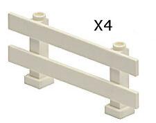 LEGO - Minifig, Utensil Fence 1 x 8 x 2 2/3 - (X4) - White