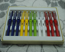 One Pack of 12 Jinhao 599A Fountain Pens Extra Fine Nib Plastic 7 Colors
