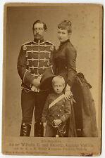 Vintage Cabinet Card Kaiser Wilhelm II,Empress Augusta & Crown Prince of Germany