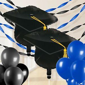 Blue Graduation Balloon Decorations Kit