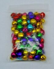 LOT 200 JINGLE BELLS ~ MIXED JEWEL Tones Christmas Colors ~ Beads Charms 10mm