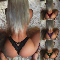 Women Lace Floral Low Waist Underwear Panties G-string Lingerie Glamour Thongs