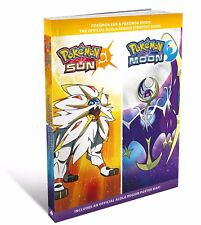 POKEMON SUN & MOON Official Strategy Guide book + Alola Region Poster Map NEW
