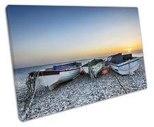 BARCHE da pesca sulla spiaggia a Muro ARTE foto di grandi dimensioni 75 x 50 cm