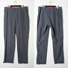 Brooks Gray Fremont Lightweight Running Casual Flat Front Pants Mens Sz Large