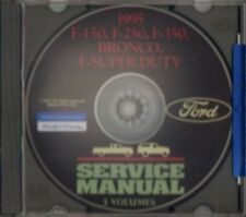 FORD 1995 Bronco, F150, F250, F350 & Super Duty Pick Up Truck Shop Manual CD