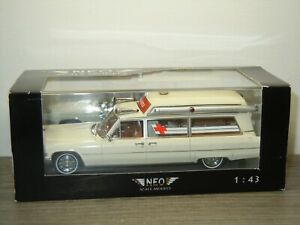 Cadillac S&S High Top Ambulance - Neo Scale Models 1:43 in Box *52268