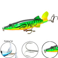 Rotierender Schwanz Topwater Bass VMC Hooks Angeln Lure Köder aus Fisch Plopper