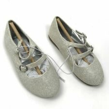 The Childrens Place Toddler Girls 7 Silver Strappy Ballet Flat Shoes 2088532 New