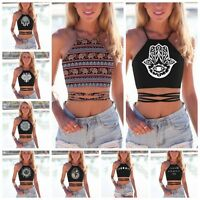 2019 Women Fashion Summer Casual Tank Tops Vest Blouse Sleeveless Crop Shirt Lot