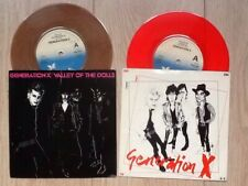 "2 GENERATION X . VALLEY OF THE DOLLS . FRIDAYS ANGELS 7""s COLOURED VINYLS"