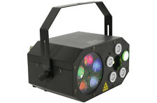 QTX Gobo Starwash Multi Light Effect 3 in 1 Gobos LED Washes Laser & IR Remote