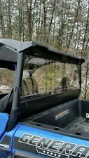 2016 Polaris General 1000 Clear Rear Windshield Panel.1/4 Thick Polycarbonate!