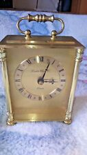 "LONDON CLOCK CO. BRASS CARRIAGE CLOCK WORKING ORDER VGC 6.5"" TALL"