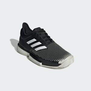 Adidas SoleCourt Boost Clay Mens Tennis Shoes  Black/White (G26293)