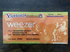 Weezer Ticket Stub Philadelphia Electric Factory 3/3/2001 Yahoo Outloud Tour
