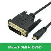 Micro HDMI to DVI 24+1 Male Adapter HD Cable for Camera,Raspberry Pi 4B,Monitor