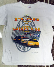 "NASCAR TEAM USA ""When Push Comes to Shove, Shov'em Back"" L t-shirt NEW Vintage"