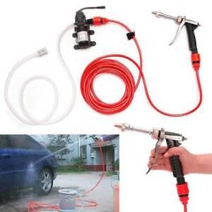 12V Portable High Pressure Car Washer Water Pump Jet Wash Cleaner Hose Van Kit