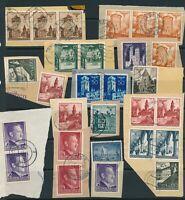 Lot Stamp Germany Poland WWII War Era Hitler Warsaw Lublin Krakau Mixed Paper 2