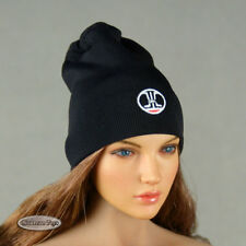 1/6 Phicen, TB League, Hot Toys, FG - Female Black Beanie Hat w/ Back Strap