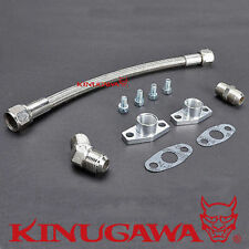 Turbo Oil Return / Drain Line Kit 10AN Garrett GT25R GT28 GT30 Ball Bearing 35cm