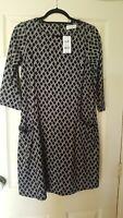 Wallis size 12 jersey tunic dress in black