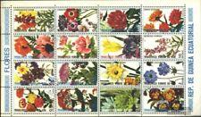 Guinea Ecuatorial 1582-1597 hoja miniatura (edición completa) usado 1979 flores