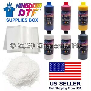 DTF Supplies Box DTF Inks, DTF Films, DTF Powder for DTF Printing FAST SHIPPING!