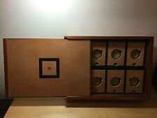 Vintage Box Scatola GIULIANO MAZZUOLI - MANOMETRO - Wood Madera - For 8x Watches