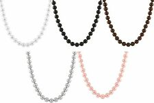14mm shell pearl necklace, 18'', Sterling Silver rhodium plated clasp OCN-14