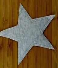 Applikation zum Aufbügeln  Bügelbild 4-125  Stern hellgrau