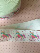 Unicorn Design Grosgrain Ribbon. 38mm.  Perfect for Hair Bows and other Crafts.