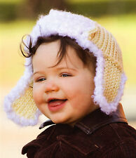 CUTE Aviator Style Baby Hat/Crochet Pattern INSTRUCTIONS ONLY