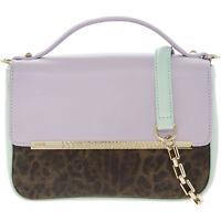 CAVALLI CLASS Candy Leopard Small Shoulder Bag, Lilac/Light Green RRP £190