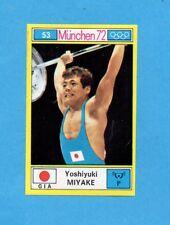 MUNCHEN/MONACO '72-PANINI-Figurina n.53- MIYAKE - GIAPPONE -Rec