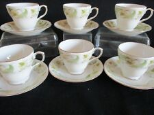 Vintage Duchess china Greensleeves Coffee cups and saucers x 6 lovely