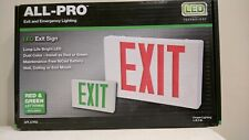 NEW ALL-PRO Exit and Emergency Lighting LED EXIT SIGN APLX7RG