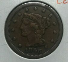 1846 Braided Hair Large Cent - Fine Plus - F+