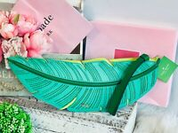 NWT Kate Spade BANANA LEAF Clutch Leather Palm Novelty bag Purse + Receipt NEW