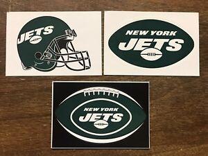 New York Jets NFL 3 Pack Sticker Lot Helmet, Oval Logo, Logo