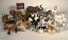 Huge LOT Safari Schleich Papo Animals Set Of 19 Elephant Zebra Bears Dog Unicorn