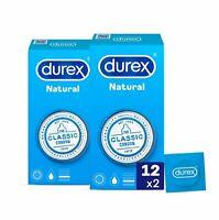 24x Preservativos Durex Natural Condones Sensibilidad Y Placer Condones Sexo