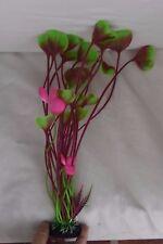 40cm Aquarium Ornament GREEN & PURPLE Artificial Plant fish sinker sweet lips