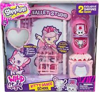 Shopkins Wild Style Kitty Dance School Ballet Studio & 2 Exclusive Figures * NEW